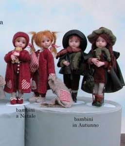 Children at Christmas, Dolls 2011 series, Collectible Porcelain Dolls - Porcelain Dolls (New) - Collectible dolls porcelain bisque, height 29 cm.