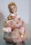 Collectible Porcelain Dolls - Porcelain Dolls (New) - Luisa ballet dancer with music box - Prcelain doll, Luisa ballet dancer with music box, collection Montedragone.