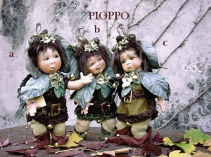 Poplar, Porcelain Doll, Porcelain Fairy Dolls - Porcelain Fairies Elves - Doll of porcelain bisque. Height: 26 cm. collection Montedragone, The price refers to a single doll.