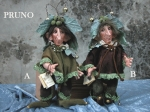 Porcelain Fairy Dolls - Porcelain Gnomes - Character of bisque porcelain, height 23cm.