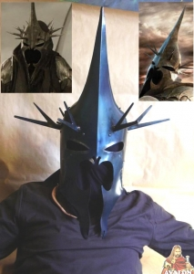 Witch King Helmet, World Cinema - Witch King Helmet, authentic reproduction of the helmet Witch-king of Angmar, steel helmet, wearable, robust.