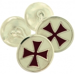 Jewellery - Templar Medieval - Cufflinks to Templar Cross. Size 20 mm diameter. Cufflinks 925 sterling silver. Completely Made in Italy