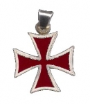 Jewellery - Templar Medieval - Templar Cross in silver 925, represents the symbol of one of the most famous Christian religious orders of chivalry: the Templars.