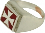 Jewellery - Templar Medieval - Ring Templar order, made of silver.