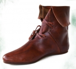 Medieval - Medieval Clothing - Medieval shoes boots - Cuffed bootie decorated. Anti-slip rubber sole.