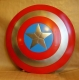 THE WORLD OF CINEMA - Captain America metal shield is crafted from metal, it measures approximately 23 1/4-inches in diameter. The Captain America Shield is made of steel making it fully functional. Like Captain America's real shield it is slightly concave.