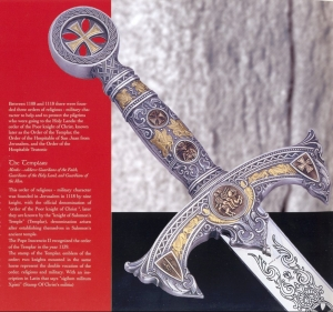 Templar Sword, Swords and Ancient Weapons - Templar Swords - Sword Medieval style inspired to monastic order - the Knights Templar Knights founded in Jerusalem between 1119 and 1120.