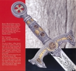 Swords and Ancient Weapons - Templar Swords - Templar Sword - Sword Medieval style inspired to monastic order - the Knights Templar Knights founded in Jerusalem between 1119 and 1120.