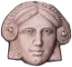 Sphinx Mask -  Etruscan