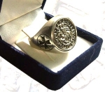 Jewellery - Templar Medieval - Templar Signet Ring made of silver 925, available in different sizes. Inner diameter: 18mm, 19mm, 20mm, 21mm, 22mm.