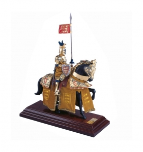 Knight Armor Figurines, Medieval - Historical Miniatures - Miniature knights Armour - knight in armor, Total height 33 cm, miniature knight parade with great helm, everything been working well.