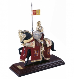 knight in armor, Medieval - Historical Miniatures - Miniature knights Armour - knight in armor, Total height 33 cm.