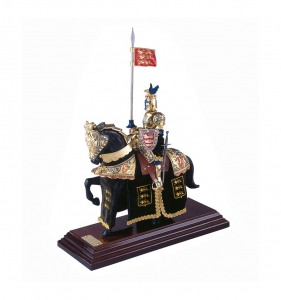 Knights Armour Miniature, Medieval - Historical Miniatures - Miniature knights Armour - knights in armour miniature figurines, Total height 33 cm. miniature knight parade with great helm, everything been working well.