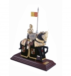 Medieval - Historical Miniatures - Miniature knights Armour - Knights Armour Miniature figurines, Total height 33 cm.