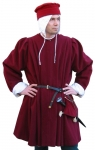 Medieval - Medieval Clothing - Medieval Costume (Man) - Surcoat with pleats on both front and back.
