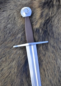 Medieval one-handed-sword, practical, Swords and Ancient Weapons - Medieval Swords - Medieval one-handed-sword, practical blunt. The high-quality carbon steel blade is forged in one piece to the pommel and riveted.