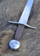Swords and Ancient Weapons - Medieval Swords - Medieval one-handed-sword, practical blunt. The high-quality carbon steel blade is forged in one piece to the pommel and riveted.
