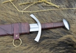 Swords and Ancient Weapons - Medieval Swords - Long Sword with scabbard, total length 94 cm, the sword comes with a leather-wrapped wooden scabbard.
