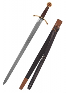 Templar Sword with scabbard, Swords and Ancient Weapons - Templar Swords - Templar Sword with scabbard and belt, double-edged steel blade, in which sharp narrowing towards the tip, the effective blows rapier.