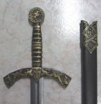 Swords and Ancient Weapons - Templar Swords - Medieval Swords XII century, decorated with characteristic symbols of the Knights Templar made of cast metal.