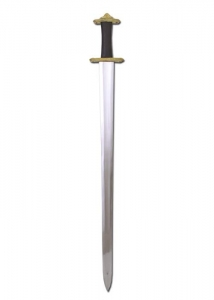 Viking Sword, Swords and Ancient Weapons - Medieval Swords - Viking Sword, replica of a Viking sword designed with a very complex hilt made of brass.