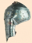 Armours - Medieval Body Armour - Medieval Pauldrons Armor - Medieval Combat Pauldrons, part of armor to protect the shoulder, made of iron and equipped with handmade leather coietti to be worn.