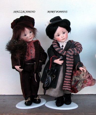 Chimney Sweeper And Mary Poppins Porcelain Dolls New