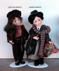 Chimney Sweeper and Mary Poppins, Collectible Porcelain Dolls - Porcelain Dolls (New) - Chimney Sweeper and Mary Poppins,