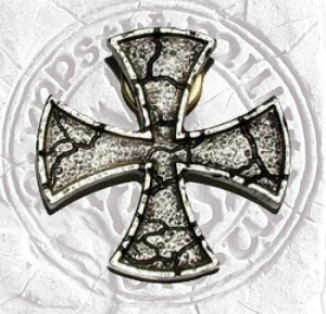 Templar Cross Brooch Jacket, Jewellery - Templar Medieval - Templar Cross brooch jacket. Size Width 35 mm. Templar brooch jacket, made in metal plated silver,