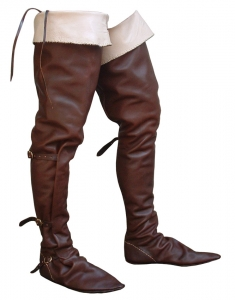 Fourteenth century horse boots, Medieval - Medieval Clothing - Medieval shoes boots - Riding boots fourteenth century. Made entirely by hand using medieval techniques.