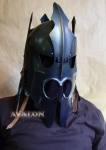 World Cinema - Nazgul Helmet, authentic reproduction of the Nazgul Helmet, steel helmet, wearable, robust.