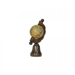 Medieval - Medieval Objects - Medieval Objects - Globe timber in which it is reproduced an ancient map of the globe.
