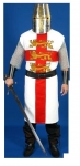 Medieval - Medieval Clothing - Medieval tunic Richard the Lionheart, 100% cotton,  Mod. Richard the Lionheart medieval mens tabard with embroidery. Made of 100% cotton. Suitable for Historical Reenactment and LARP.