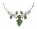 Jewellery - The Treasury of Elves - Choker leaved - Choker necklace with large leaves. Silver 925.