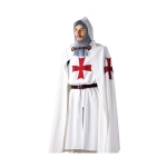 Medieval - Medieval Clothing - Traditional clothing of Knights Templar Costume: coat and white robe, accompanied by both a red cross sewn license.