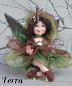 Fairy of the Elements (large), Porcelain Fairy Dolls - Porcelain Fairy - Porcelain Fairies - Fairy of the Elements, porcelain dolls of bisque, height: 8.7 in -(22 cm). Collection Montedragone. The price refers to a single doll.