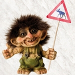 NyForm Troll - NyForm Troll (small) - Norwegian Troll natural material, subject to international collection. Height: 9 cm.