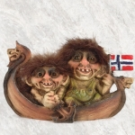 NyForm Troll - NyForm Troll (small) - Norwegian Troll natural material, subject to international collection. Height: 12 cm