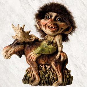 Troll Nyform 203, NyForm Troll - NyForm Troll (medium) - Norwegian Troll natural material, subject to international collection. Height: 15 cm