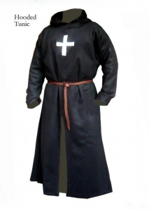 Hooded Tunic, Medieval - Medieval Clothing - Hooded Tunic from crusading XII / XIII century, belt, cap. Period: mid 1100 to mid 1200. Available in sizes: M, L, XL, XXL.