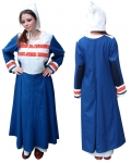 Medieval - Medieval Clothing - Medieval Women Costumes - Tunic Viking Century X, The embroidery is done entirely by hand.