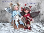 Porcelain Fairy Dolls - Porcelain Fairy - Porcelain Fairies - Fairy Sculpture, handcrafted porcelain doll Biscuit. Height: 10.2 in - 26 cm. Collection Montedragone. The price refers to a single doll.