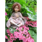 Porcelain Fairy Dolls - Porcelain Angels Dolls - Character collectible porcelain bisque in a sitting position, 13.77 inches (height: 35 cm).