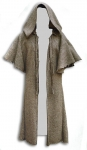 Medieval - Medieval Clothing - Medieval Fantasy Costumes - Sorcerer's long tunic with wide hood.